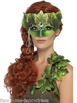 Film-bösewicht Kostüme (Damen Sexy Efeu Imp Wald Fee Tv Film Bösewicht Augen Maske Maskenkostüm)