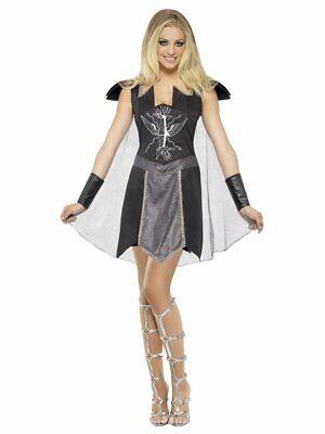 Fever Dark Warrior Sexy Gladiator Womens Fancy Dress Costume Size Small 8-10