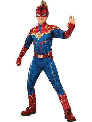 Girls Hero Costumes (Girls Captain Marvel Deluxe Hero Suit)
