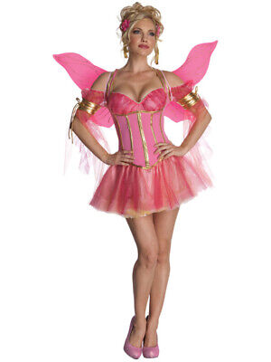 Women's Adult Enchanted Fairy Sexy Pink Butterfly or Pixie Costume (Adult Pink Fairy Costume)