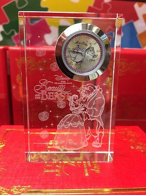 Disney Premium Crystal Clock  Beauty and the Beast Mrs. Potts Chip from - Clock From Beauty And The Beast