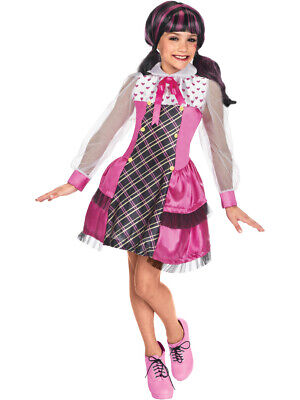 Kids Draculaura Costume (Deluxe Kids Girls Draculaura Dracula Costume Small)