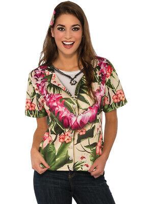 Women's Classic Hawaiian Tourist Graphic Shirt Costume Standard - Hawaiian Tourist Costume