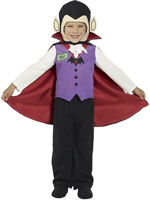 Boys Vampire Costume Dracula Outfit Halloween Cape Kids Child Toddler Size 1-2 - Toddler Dracula Halloween Costume