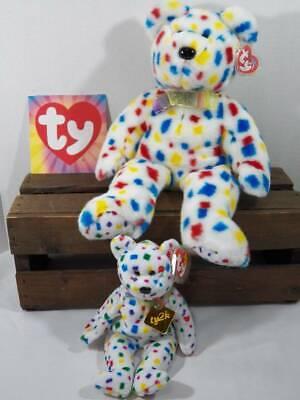 ~TY Beanie Babies Baby~ 1999 TY2K Bear Engraved Name Tag RARE Errors & Buddy