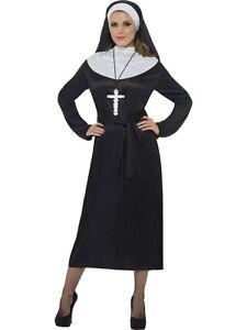 FANCY-DRESS-COSTUME-NUN-NUNS-PLUS-SIZE-LG-16-18