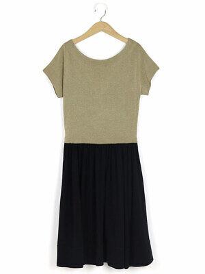 J & M Davidson Amazing Black And Gold Lurex Swing Party Dress Size M  - RRP £795