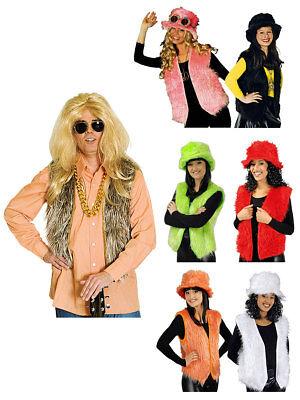 Weste aus Plüsch Karneval Kostüm (Western Kostüme Accessoires)