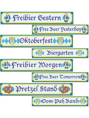 Set Of 4 Oktoberfest Sign Cutouts Party Decoration