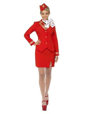 Trolley Dolly Stewardess Flight Attendant Adult Costume - Dolly Costumes