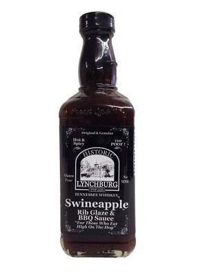 Barbecue Sauce Ribs - Historic Lynchburg Swineapple Rib Glaze & BBQ Sauce - HOT 110 Poof - 16 oz.