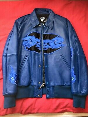🔥OG🔥 A Bathing Ape Vintage Cowhide 90s Jacket Bape L US Seller/ 100% Authentic