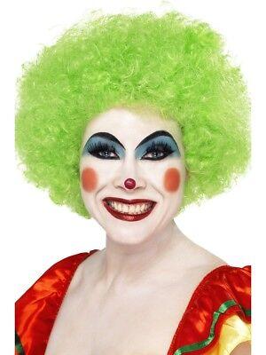 Zirkus Clown Afro Perücke Limettengrün Comedy Erwachsene Kostüm - Erwachsene Grüne Clown Perücke