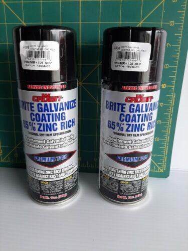 Aervoe 7008 13 Ounce 65% Zinc-Rich Brite Galvanize Coating Aerosol Spray 2 CANS