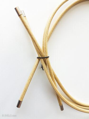Brake Cable Outer Housing Vintage style textile, fabic wrap, GOLDEN