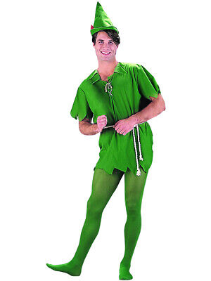 Women Peter Pan Costume (Adults Mens Womens Peter Pan Green Costume And Hat)
