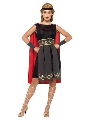 Womens Roman Warrior Costume Gladiator Greek Soldier Fancy Dress Outfit