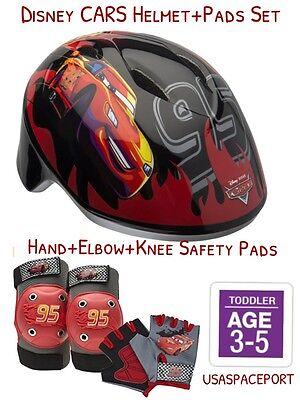 Disney CARS BIKE HELMET+Safety GLOVES+ELBOW+KNEE PAD SET Sco