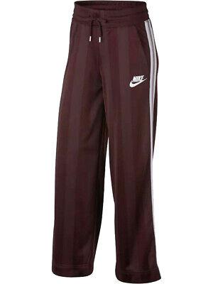 Nike Womens Sportswear Shadow Striped Pants Maroon/Burgundy New Nike Womens Sportswear