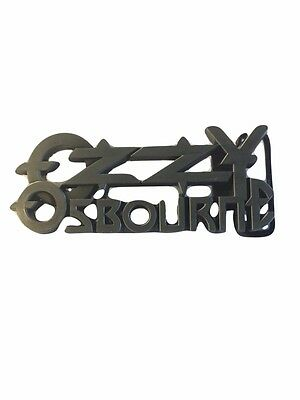 Ozzy Osbourne Belt - Ozzy Osbourne Rock Band Logo Metal Enamel BELT BUCKLE