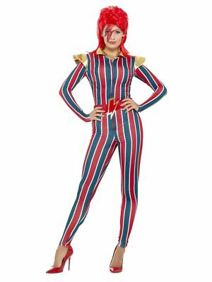 Smiffys Miss Space Superstar Ziggy Stardust Bowie Adult Halloween Costume 43859 (Bowie Halloween)