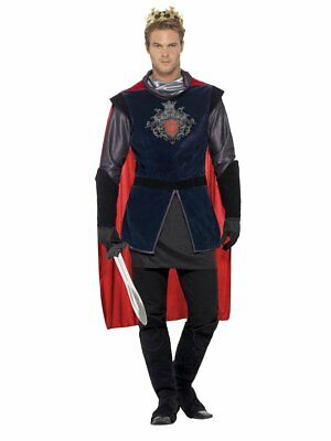 Smiffys Deluxe King Arthur Medieval Knight Adult Mens Halloween Costume 43417](Medieval King Costumes Adults)