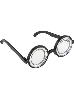 50s Style Nerd Geek Dork Black Thick Rimmed Glasses Costume Accessory