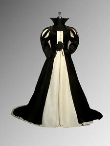 Medieval-Renaissance-Tudor-Style-Dress-Gown-Handmade-from-Velvet-and-Brocade