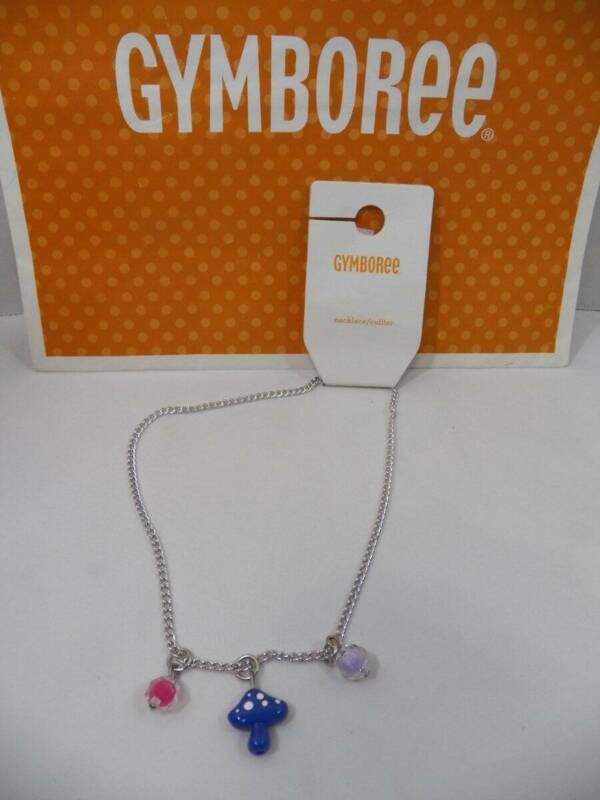 ~Gymboree~ Girls WOODLAND WEEKEND Charm Necklace Mushroom Fox NEW