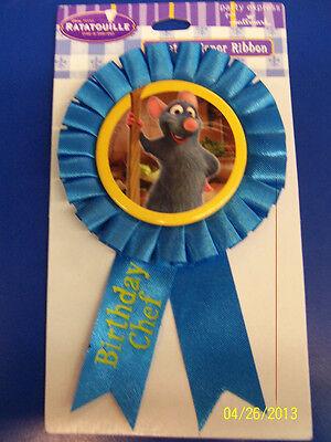 Ratatouille Birthday Party - RARE Ratatouille Remy Disney Pixar Birthday Party Favor Guest of Honor Ribbon