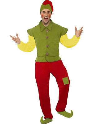 Smiffy's Cool Yule Christmas Elf Mens Costume Adult Size - Cool Halloween Costumes Men