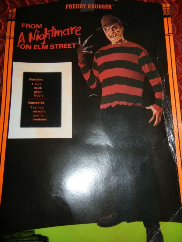 FREDDY KRUEGER NIGHTMARE on ELM STREET ADULT HALLOWEEN COSTUME - SIZE: XXL