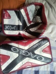 Hockey Goalie Glove and Blocker