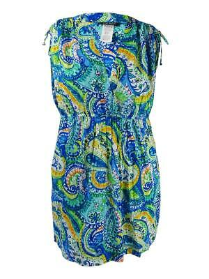 Lauren Ralph Lauren Women's Plus Carnivale Printed Farrah Dress (Blue, 1X)