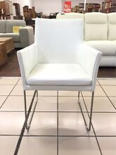 100% LEATHER (SET OF 4) - SANDA CHAIRS (WHITE) Logan Central Logan Area Preview