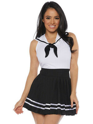 Women's Nautical Black Sailor Skirt Costume Set Large 12-14 - Womens Sailor Costume