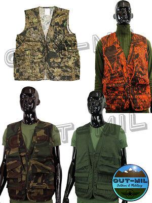 Gilet caccia portacartucce carniera posteriore Verde, Mimetico, Bosco, Arancio