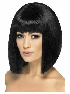 Smiffys Coquette Wig Short with Fringe - Black - Pulp Fiction Mia