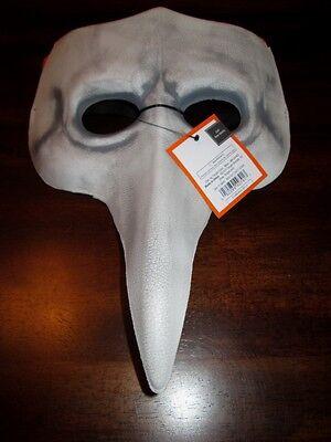 Adult LEATHER MASQUERADE MASK Opera BIRD GRAY NEW Beak THEATRICAL Halloween Gras