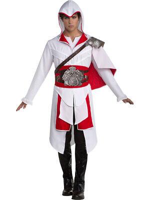 Assassin's Creed White Ezio Deluxe Adult Mens Costume (Assassins Creed Ezio Costume)