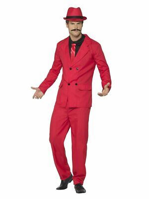 Smiffys Zoot Suit Pachuco Jacket Pants Red Adult Mens Halloween Costume 44891](Halloween Costumes Red Pants)