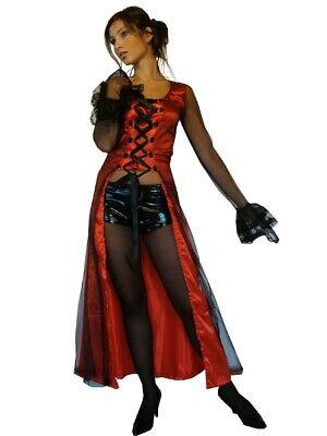 Vampir Kostüm Vampirin Halloween Teufel Hexe Gr. 34 36 38 40 -