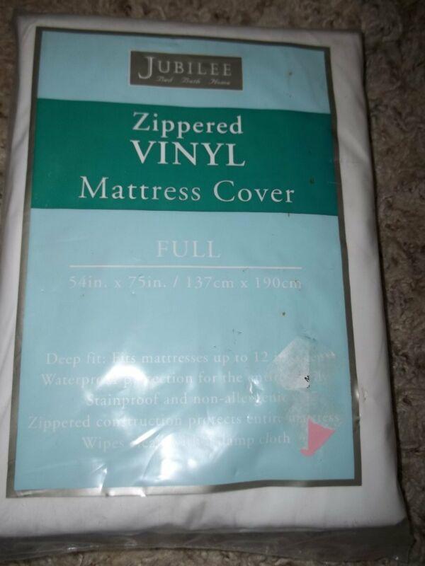 NIP JUBILEE Full Size Double Vinyl Mattress Protector Cover