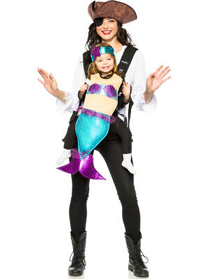 Adult's Baby And Me Pirate And Mermaid Carrier Costume Accessory Kit