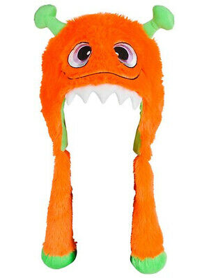 Halloween Character Cute Orange Monster Plush Hat Costume Accessory - Orange Halloween Costumes