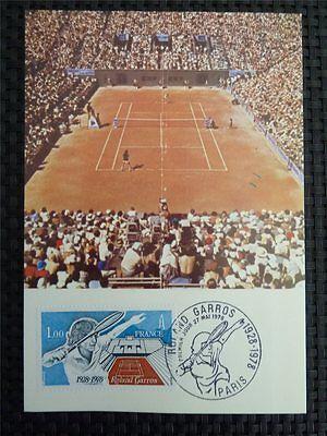 FRANCE MK 1978 TENNIS ROLAND GARROS MAXIMUMKARTE CARTE MAXIMUM CARD MC CM c3238