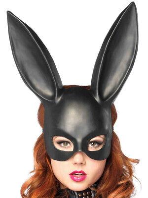 Black Bunny Mask (Adults Black Masquerade Bunny Rabbit Pet Animal Mask Costume)