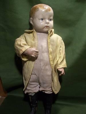 """Rare Antique Boy Doll ~✿~ 1914 Uneeda Biscuit Tin 14.5"""""""