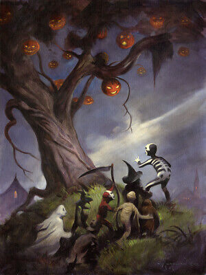 THE HALLOWEEN TREE!  18x24 Fine Art Print on Heavy Paper by Mike Hoffman!](Art X Halloween)