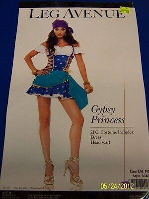 2 pc. Gypsy Princess Fortune Teller Pirate Dress Up Halloween Sexy Adult Costume